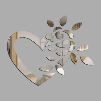 Espelho Decorativo Coração Floral