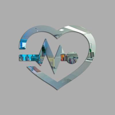 Espelho Decorativo Batimentos Cardíacos
