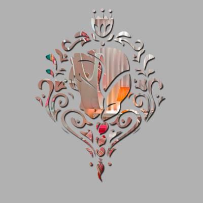 Espelho Decorativo Ana Frozen Com Floral