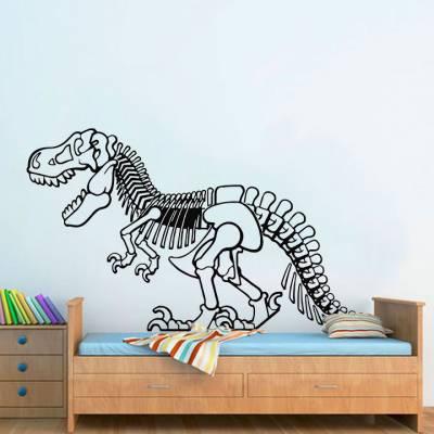 Adesivo De Parede Esqueleto T Rex