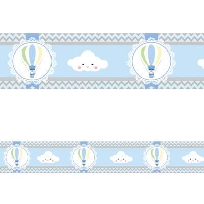 Adesivo de Parede Faixa Nuvens e Balões
