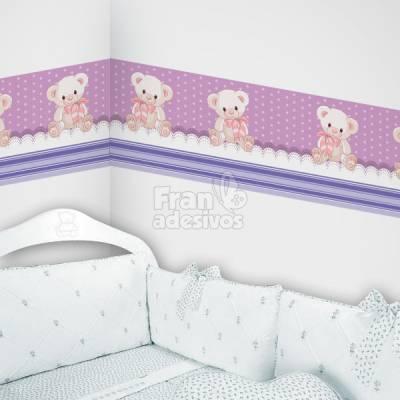 Faixa Decorativa para quarto infantil Ursinho - Lilas