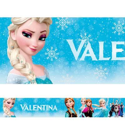 Adesivo de Parede Faixa Personalizada Frozen