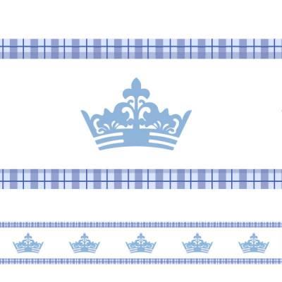 Faixa de Parede Auto-adesiva Coroa Azul