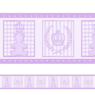 Adesivo de Parede Faixa Ursinha Princesa