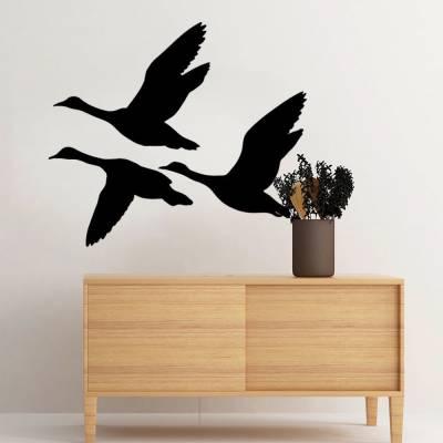 Adesivo De Parede Migração De Cisnes