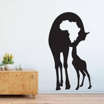 Adesivo De Parede Girafas Africa