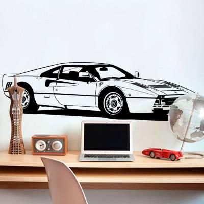 Adesivo de Parede Ferrari Retro