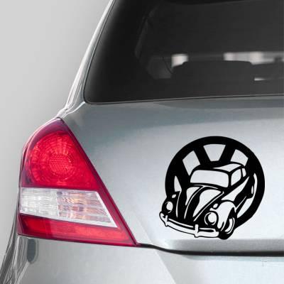 Adesivo de Carro Fusca Com Logo Volkswagen