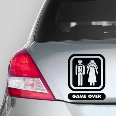 Adesivo De Carro Game Over
