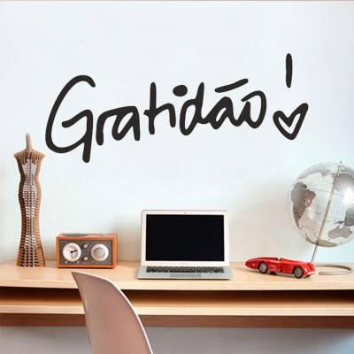 Adesivo de Parede Frase Gratidão