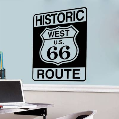 Adesivo De Parede Historic Route 66