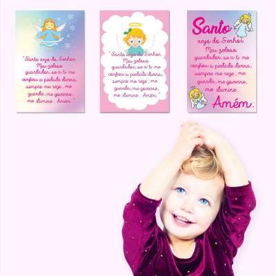 Placa Decorativa Infantil Menina Frase Oração Bebê