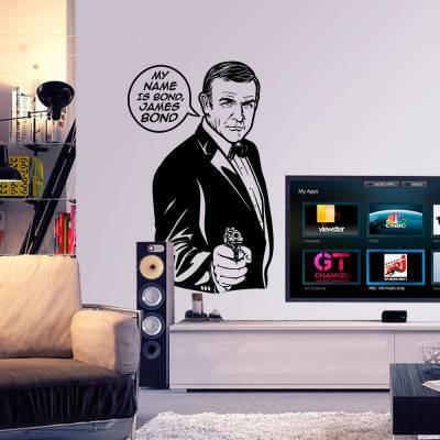 Adesivo De Parede James Bond Frase