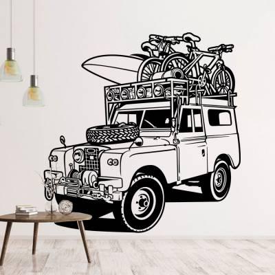Adesivo de Parede Jeep Praia