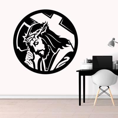 Adesivo de Parede Jesus Cristo Coroa