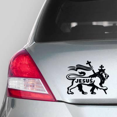 Adesivo de Carro Nome De Jesus No Leão