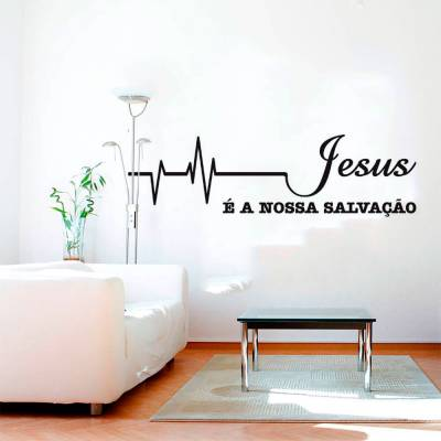 Adesivo de Parede Jesus Cristo é a Nossa Salvação