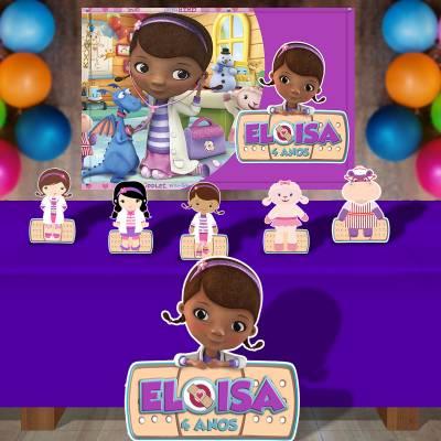 Kit Para Festa Totem E Banner Doutora Brinquedos
