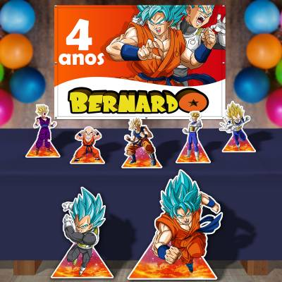 Kit Para Festa Totem E Banner Dragon Ball