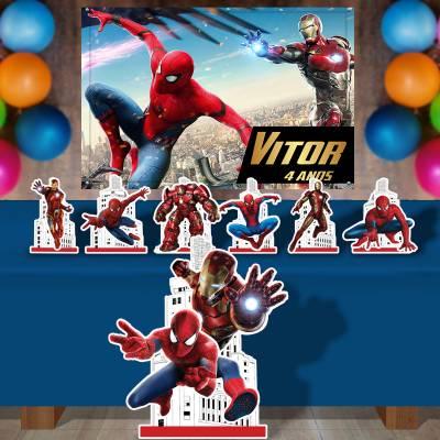 Kit Para Festa Totem E Banner Spider Man