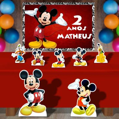 Kit Para Festa Totem E Banner Mickey