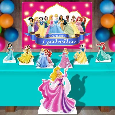 Kit Para Festa Totem E Banner Princesas