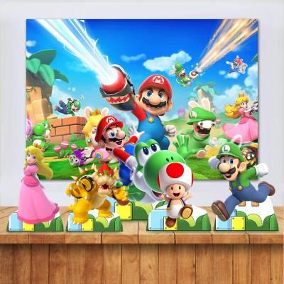 Kit para Festa Banner E Toten Do Mario