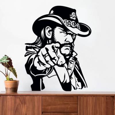 Adesivo de Parede Lemmy Kilmister