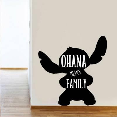 Adesivo De Parede Stitch Ohana