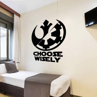 Adesivo De Parede Star Wars Choose Wisely