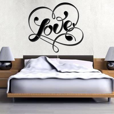 Adesivo de Parede Love Coração