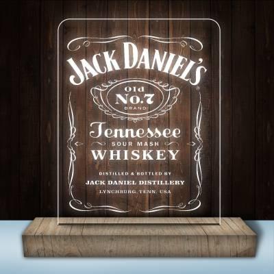 Luminária de mesa LED e Acrílico Jack Daniels