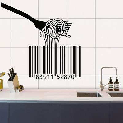 Adesivo de Parede Código De Macarronada