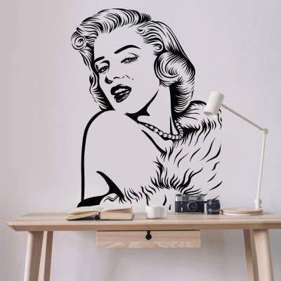 Adesivo de Parede Marilyn Monroe Luxo