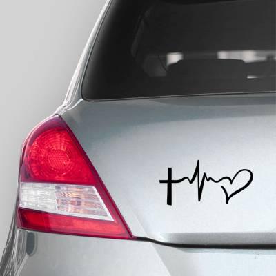 Adesivo de Carro Coração Batendo De Amor
