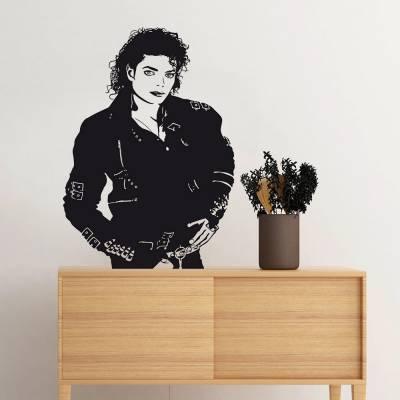 Adesivo De Parede Silhueta Michael Jackson