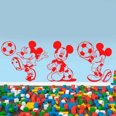 Adesivo De Parede Mickey Mouse Futebol