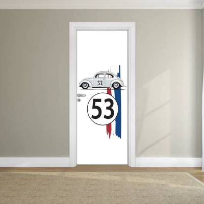 Adesivo de Porta Fusca Herbie 01