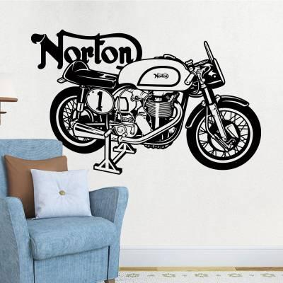Adesivo De Parede Moto Norton