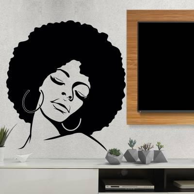 Adesivo De Parede Mulher Negra Feliz