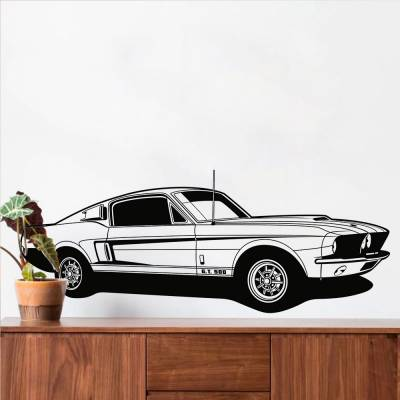 Adesivo de Parede Carro Mustang GT
