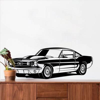 Adesivo De Parede Mustang Estacionado Retrô