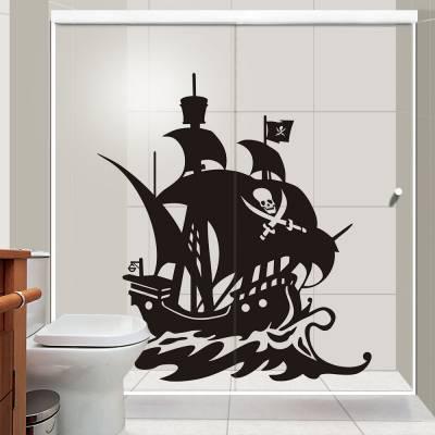 Adesivo de Parede Navio Pirata