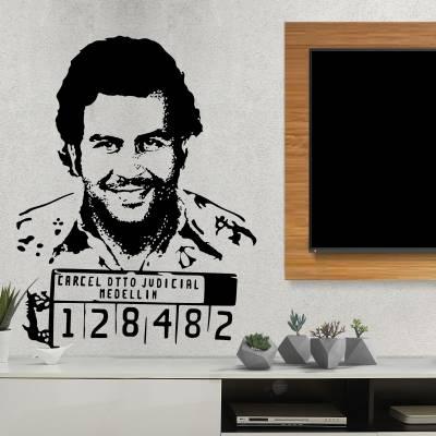Adesivo De Parede Pablo Escobar
