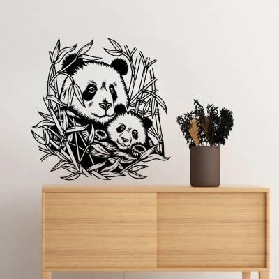 Adesivo de Parede Panda E Filhote