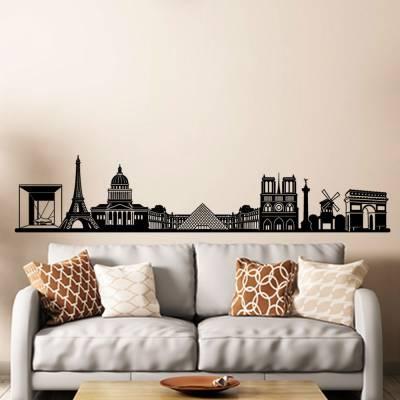 Adesivo De Parede Panorâmica Paris