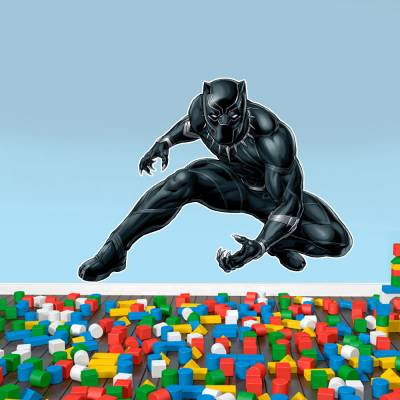 Adesivo De Parede Marvel Pantera Negra