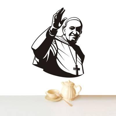 Adesivo De Parede Papa Acenando