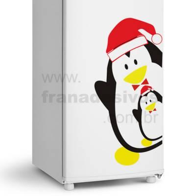 Adesivo de Geladeira Pinguim com Gravata de natal